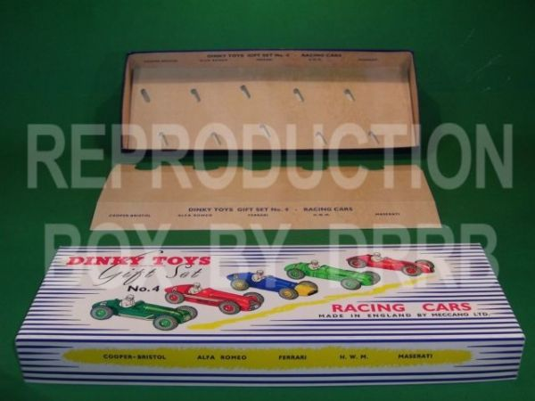 Dinky #249 (Gift Set 4) Racing Cars - Reproduction Box